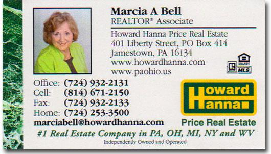 Marcia Bell Business card image